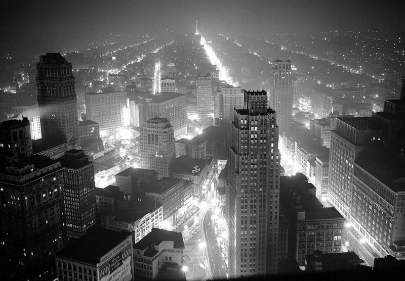 1940s Detroit Skyline