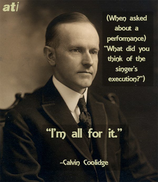 Calvin Coolidge Historical Insults