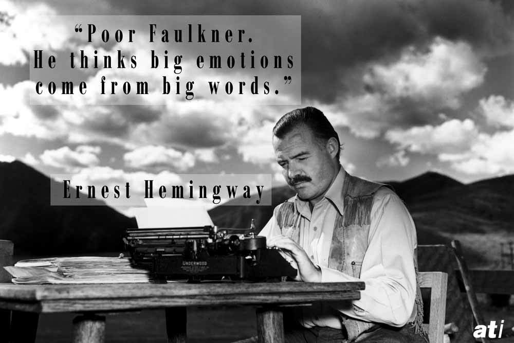 Best Insults Ernest Hemingway On Faulkner
