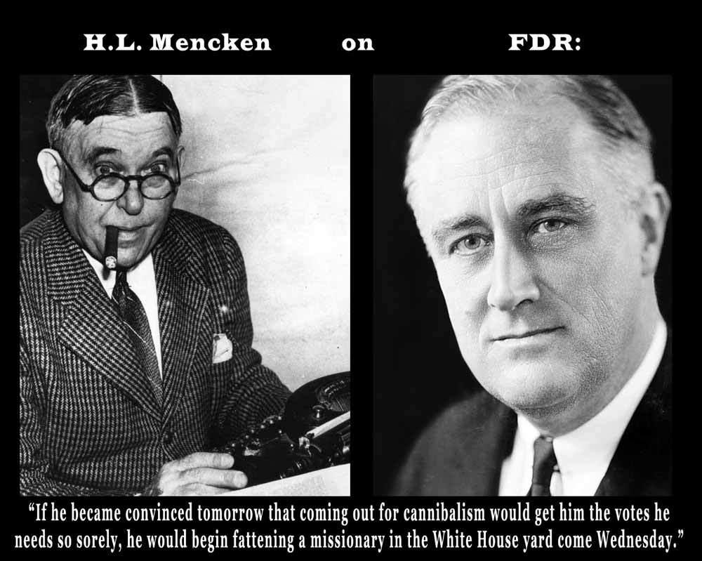 HL Mencken Insult Of FDR