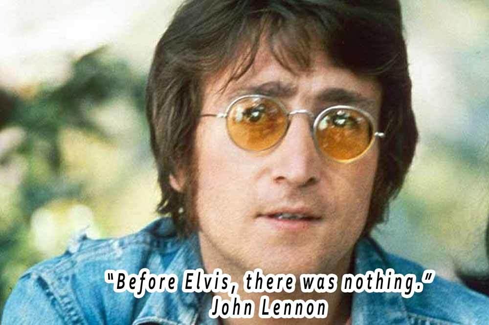John Lennon On Elvis