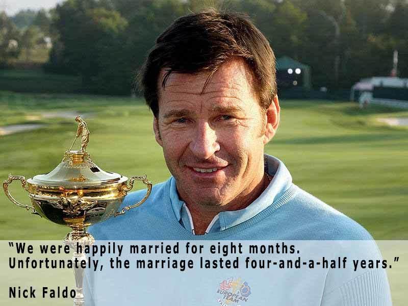 Nick Faldo On Marriage
