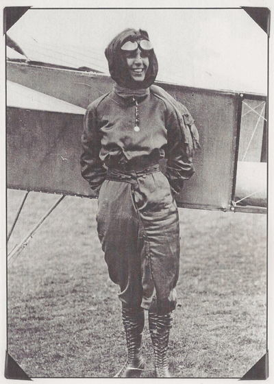 Female Aviators Quimby Plane