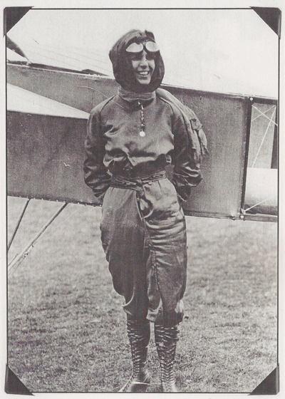 Female Aviators Quimby Plane