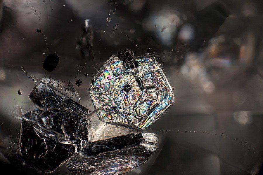 gemstone landscapes muscovite in quartz