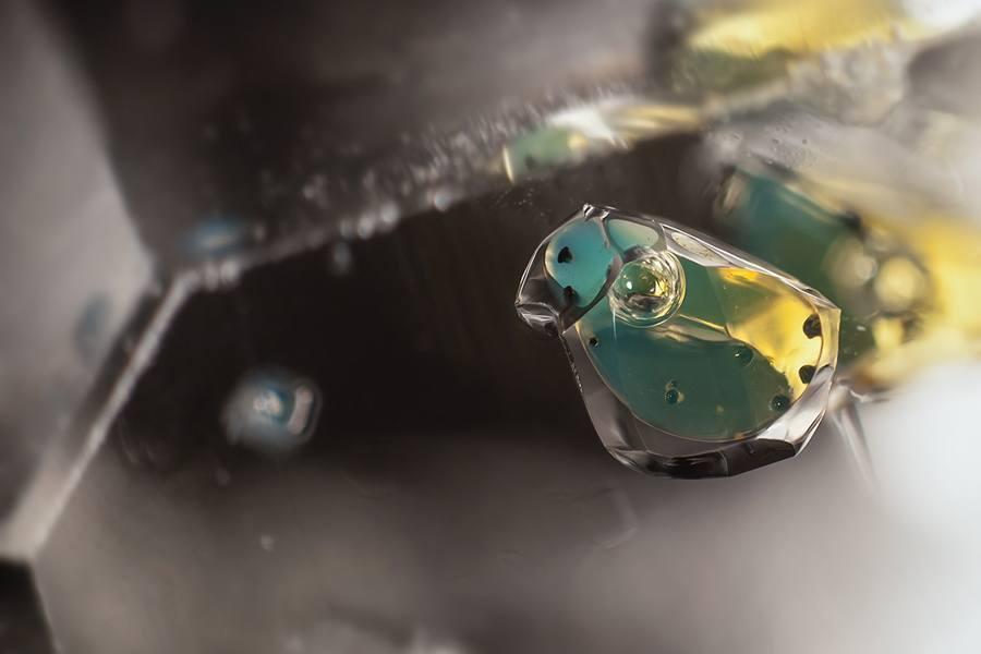 gemstone landscapes petroleum methane in quartz