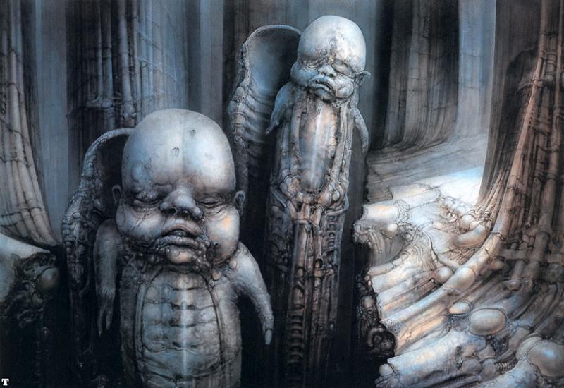 HR Giger Babies Hatching