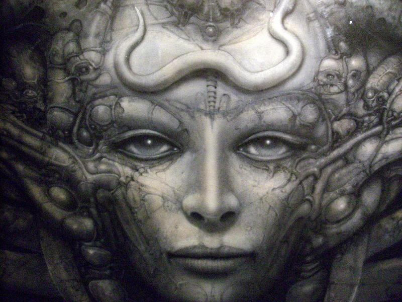 HR Giger Close Up