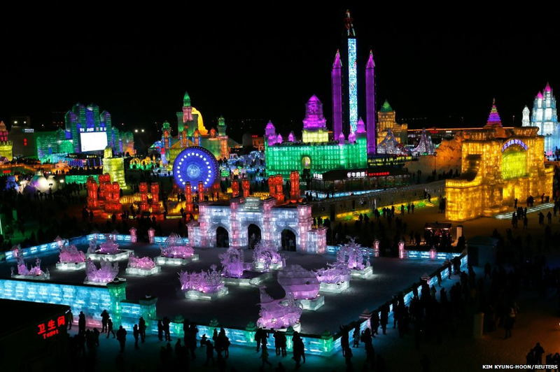 Harbin Ice Festival Far