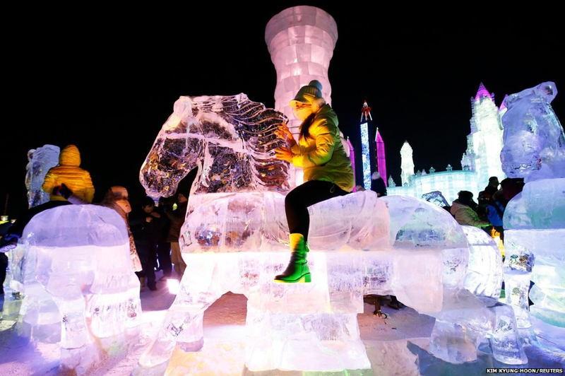 Harbin Ice Festival Ice Horse