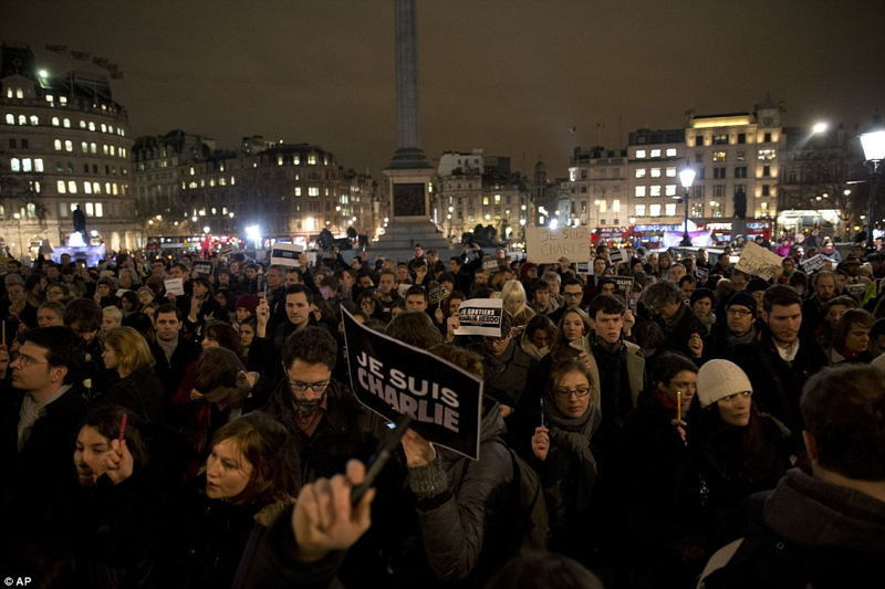 Je Suis Charlie Trafalgar Square