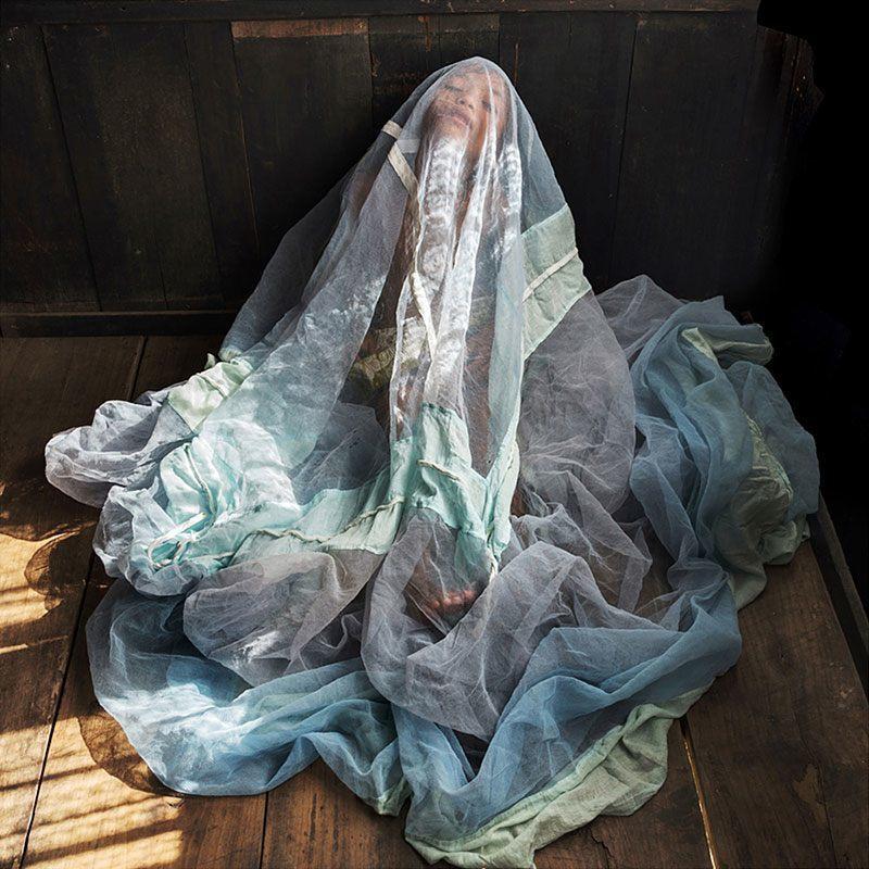 Girl Wears a Women's Veil