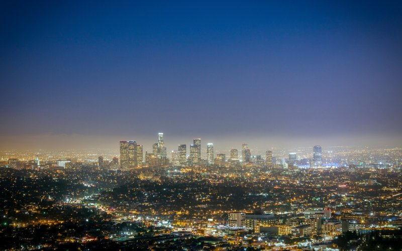 Light Pollution Skyline
