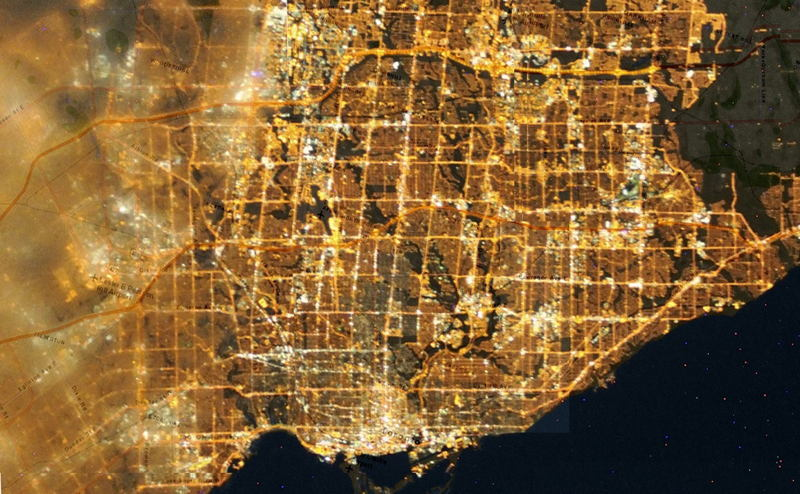 Light Pollution Where Are The Stars - Map of light pollution us