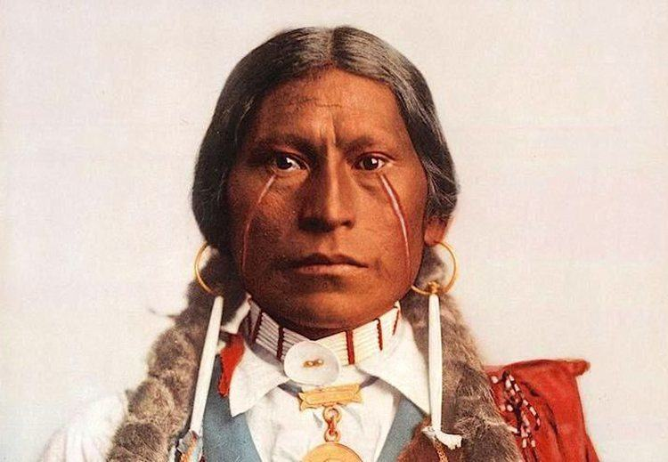 native american photography painted cheeks