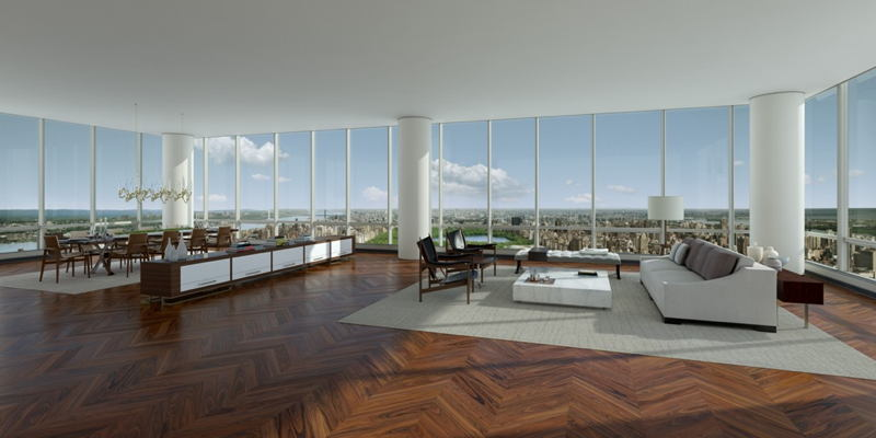 NYC Most Expensive Apartment Living Room