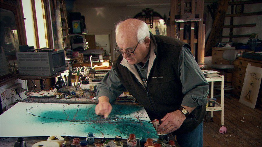 Ralph Steadman Working