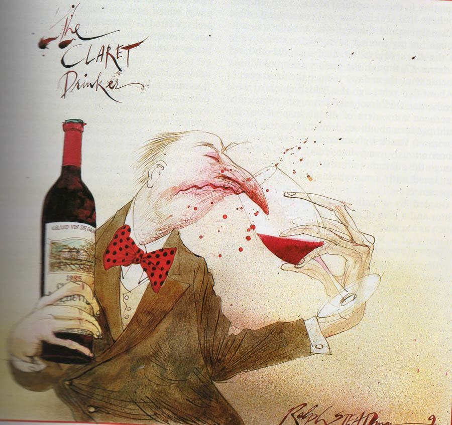 ralph steadman claret drinker wine