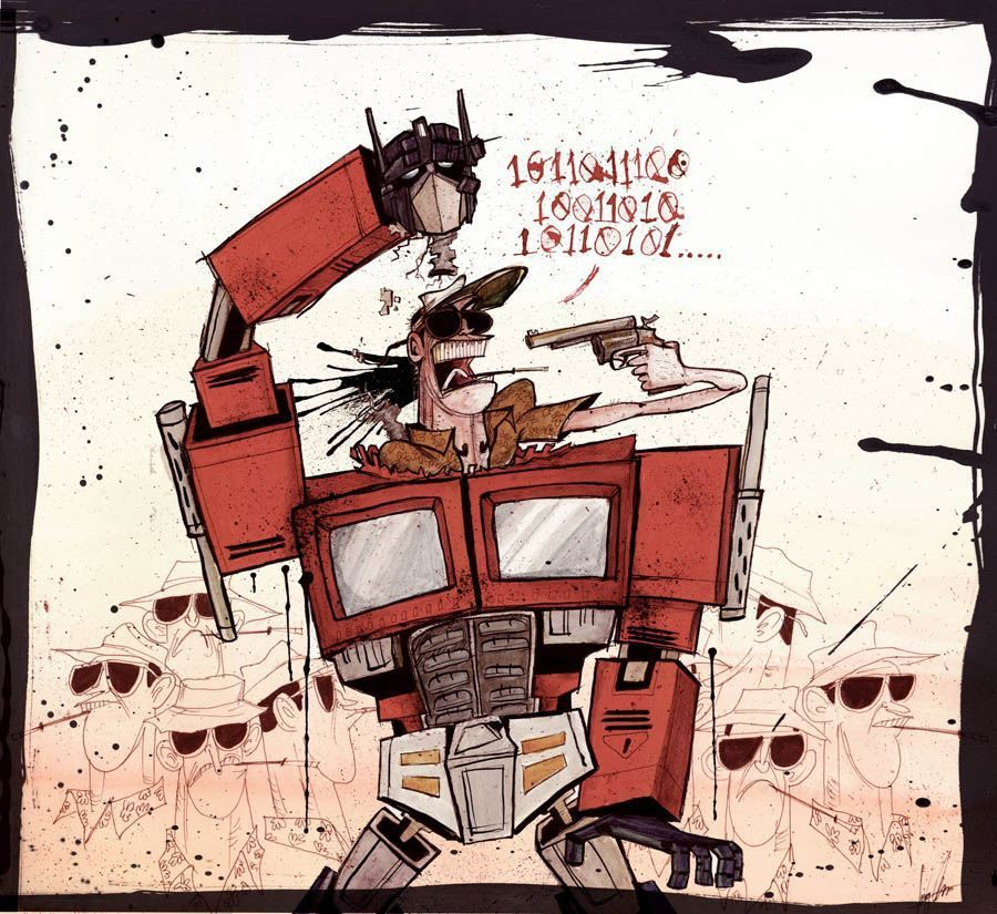 Drawing Of Hunter S. Thompson By Ralph Steadman