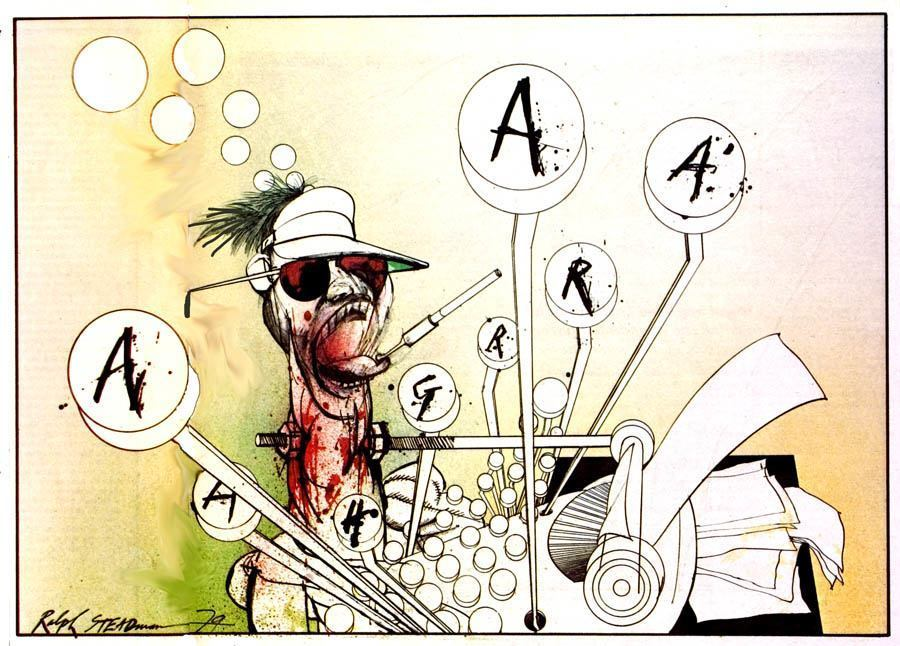 Illustration Of Hunter S. Thompson Drawing