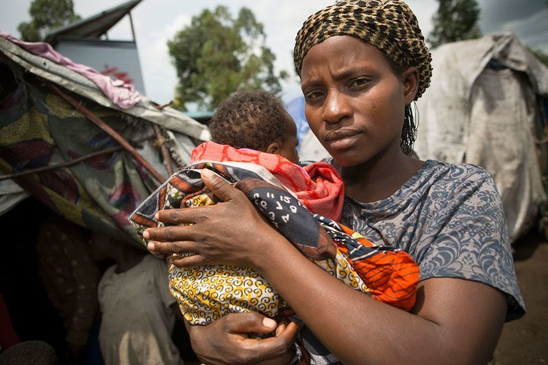 DR Congo Mother and Baby