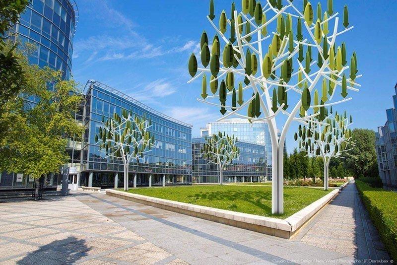Digital Design of Tree-Shaped Wind Turbine