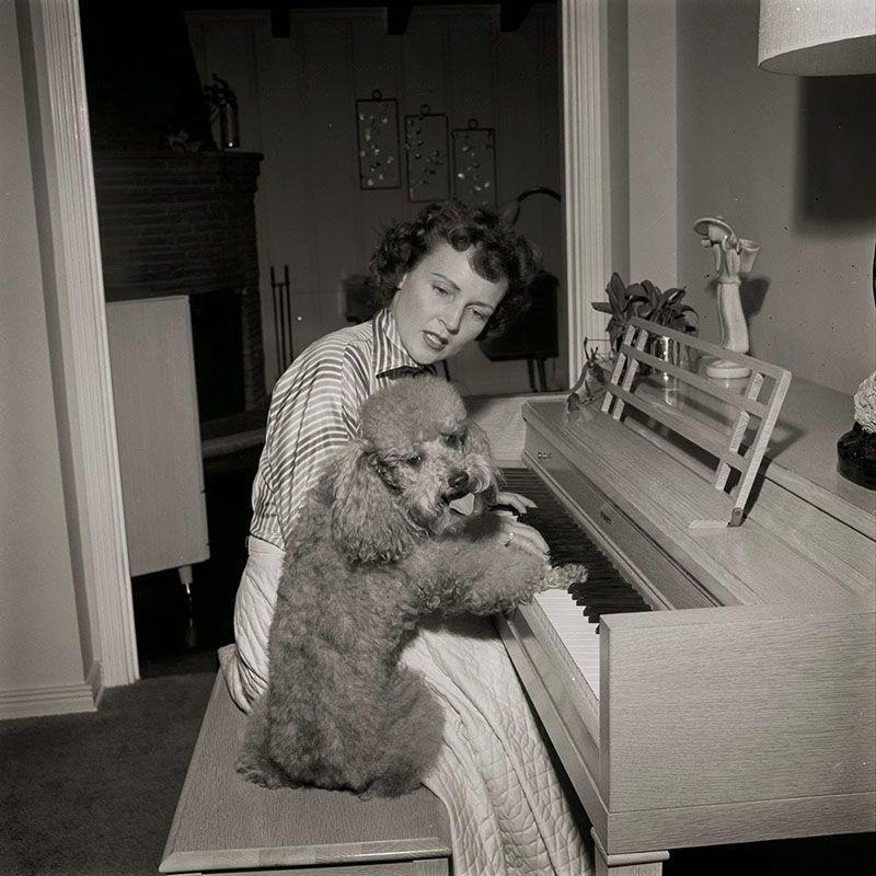 Vintage Betty White Piano