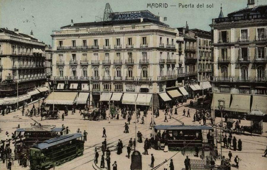 Vintage Spain Madrid Sol