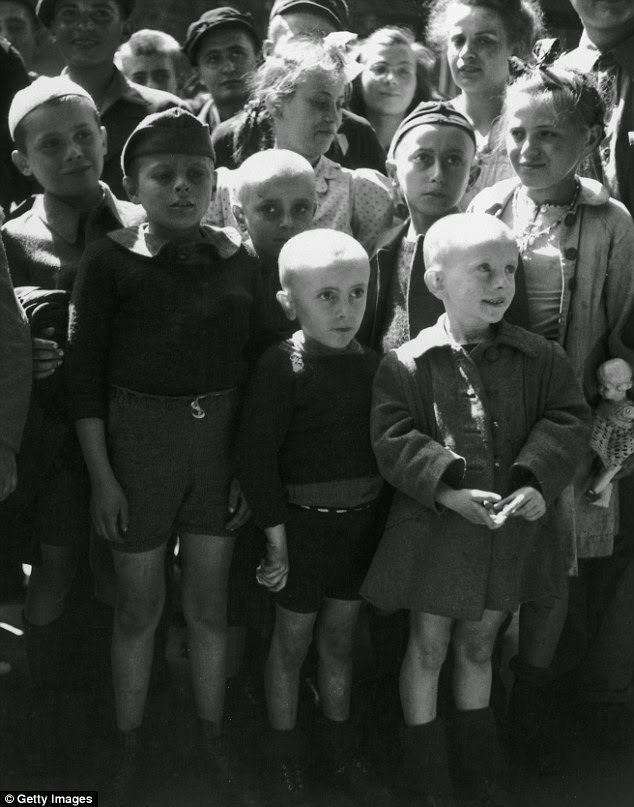 Children Liberated By Russians At Nazi Concentration Camp