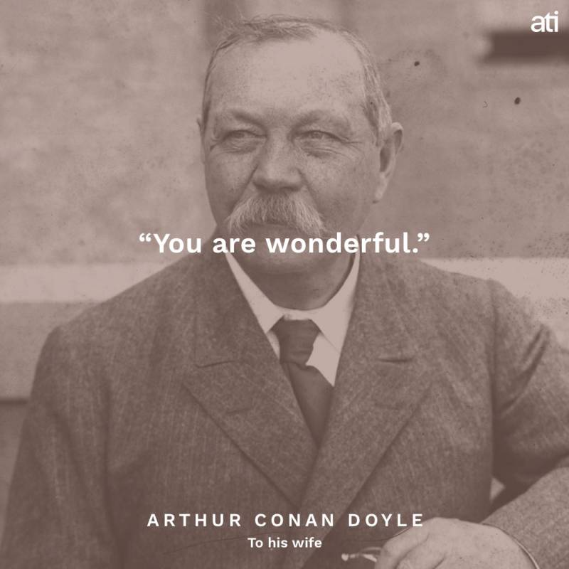 Arthur Conan Doyle Famous Last Words