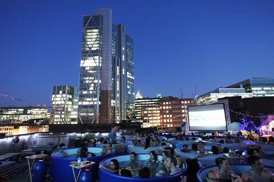 coolest cinemas hot tub london