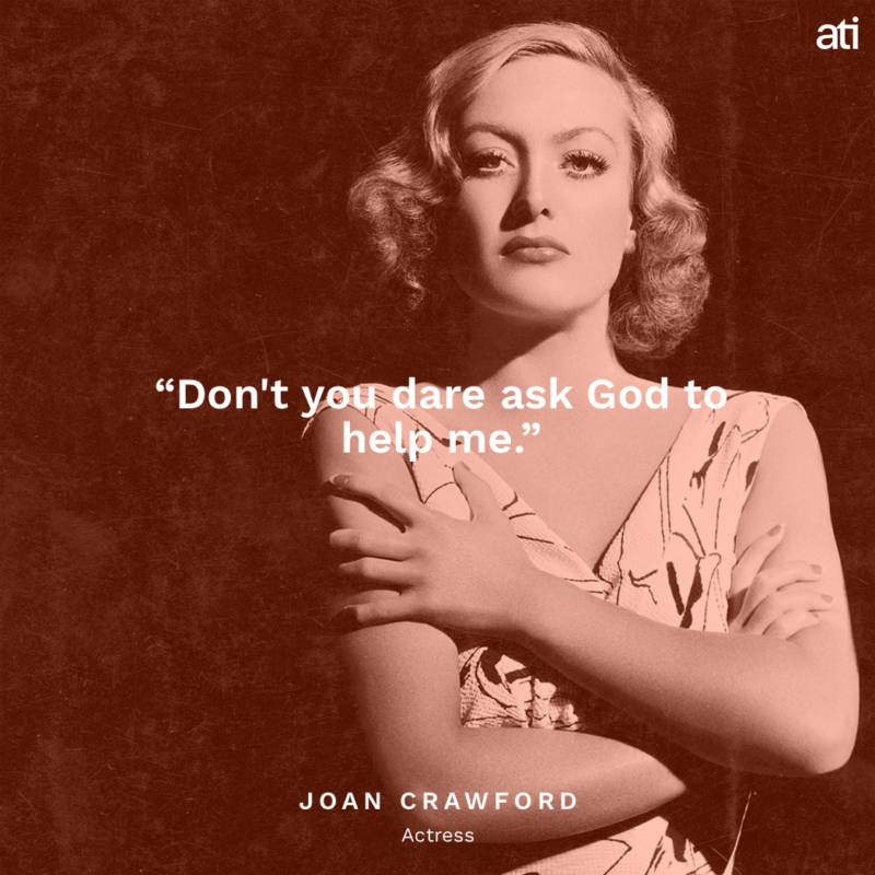 Joan Crawford's Last Words