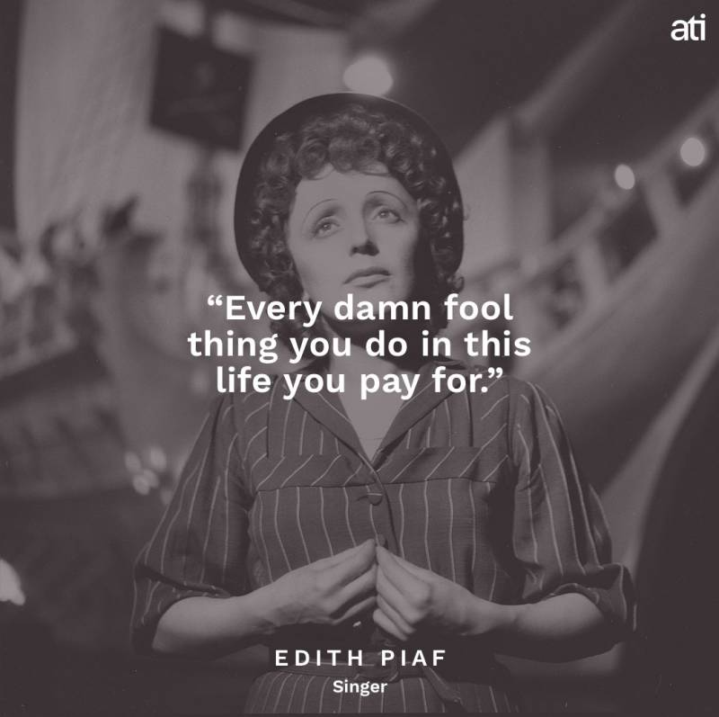 Edith Piaf Famous Last Words