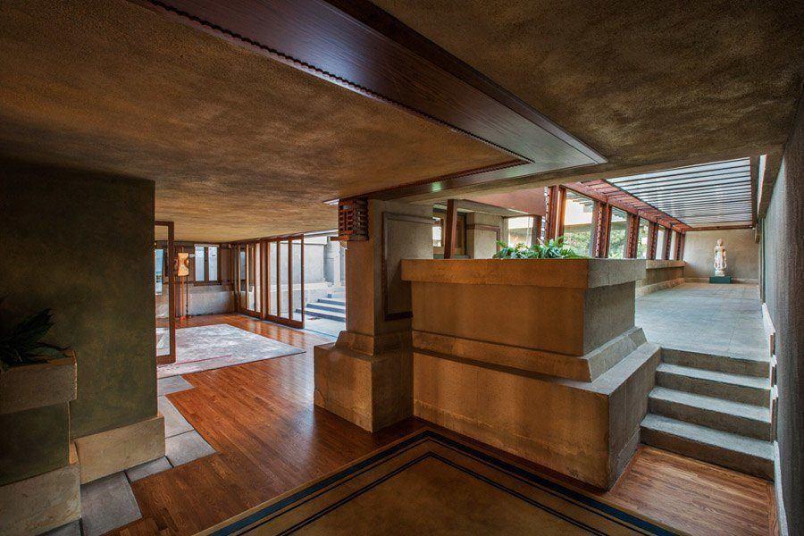 Frank Lloyd Wright Hollyhock House Open Floorplan