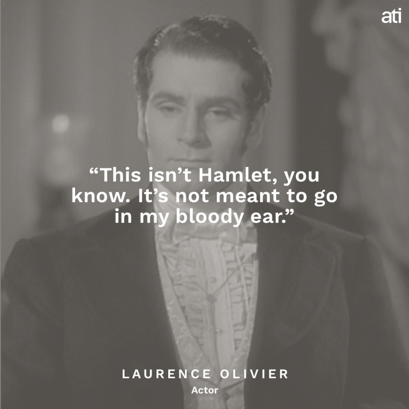 Laurence Olivier's Last Words