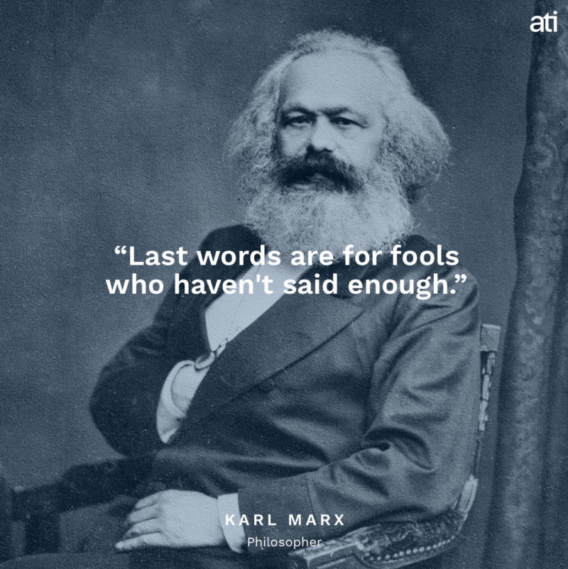 Karl Marx's Last Words
