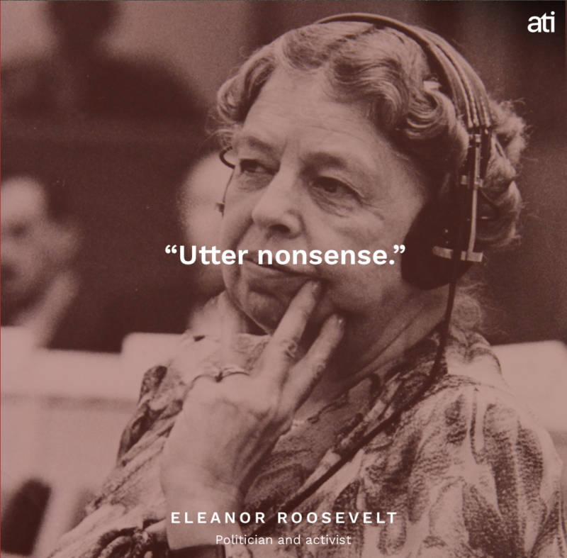 Eleanor Roosevelt's Last Words