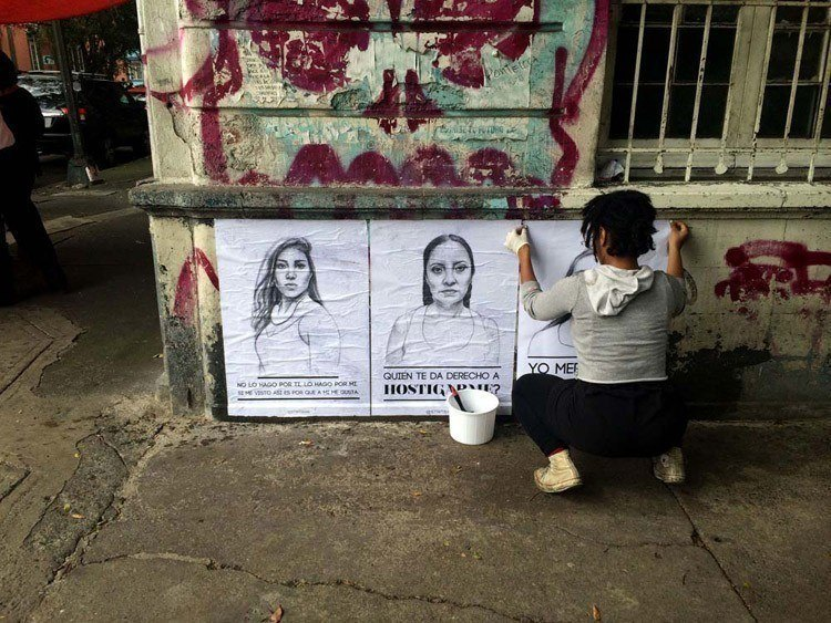 street harassment stop telling women to smile mexico city hanging artwork