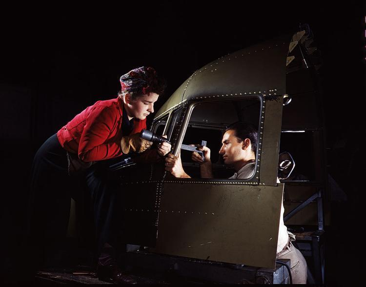 women of WWII cockpit shell