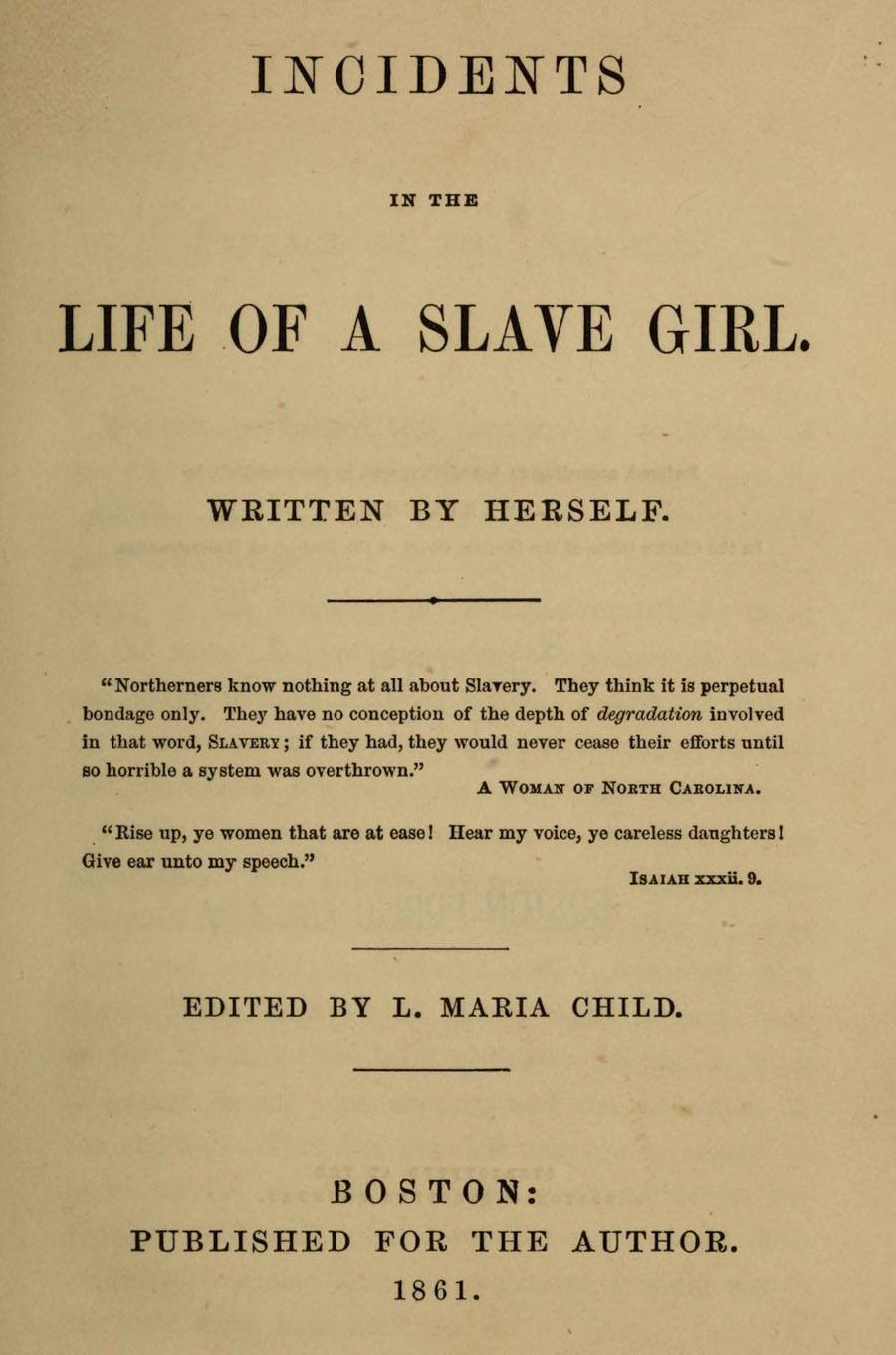 black history harriet jacobs life of a slave girl
