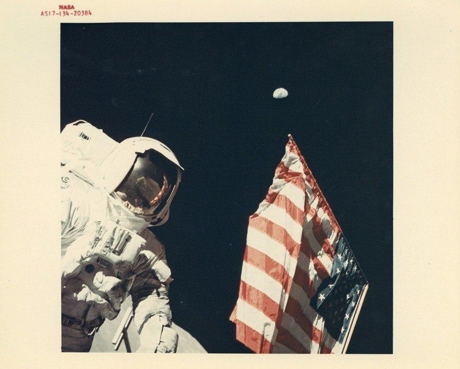 classic nasa american flag