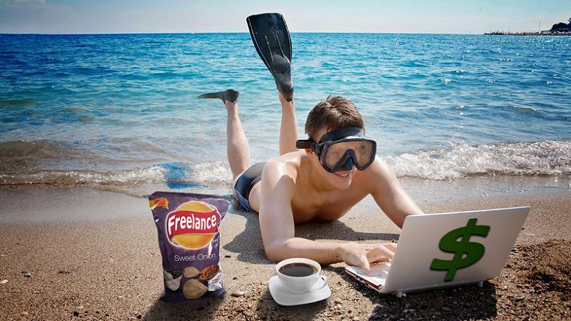 Freelancers Life Beach