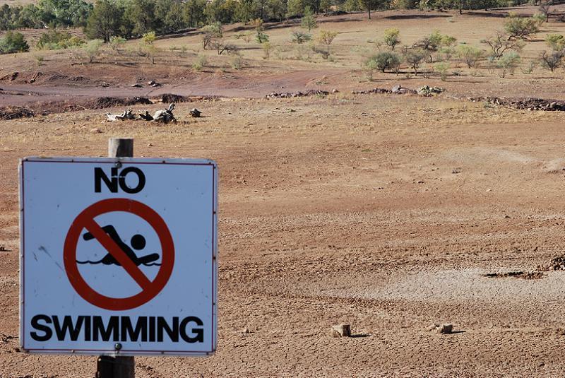 Global Warming Dry Pond