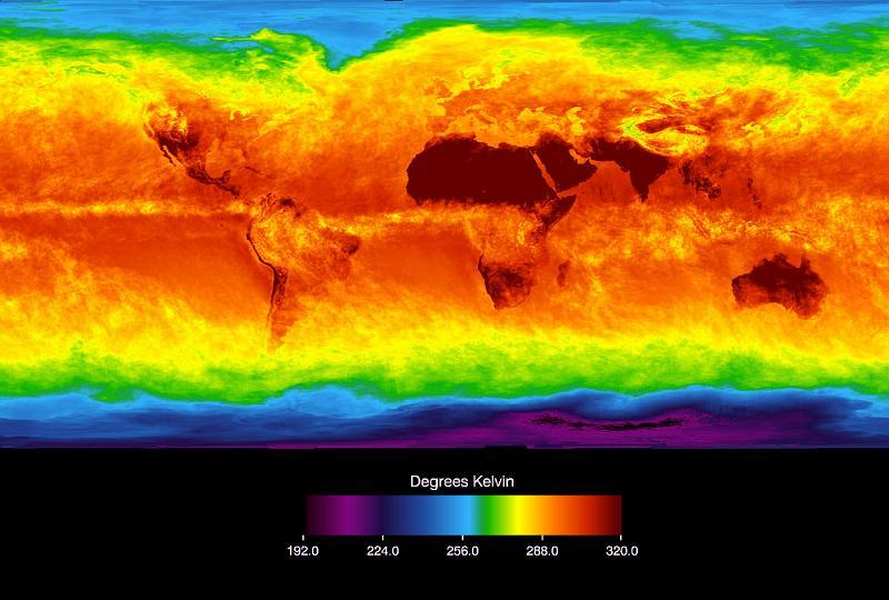 Global Warming Earth Infra Red