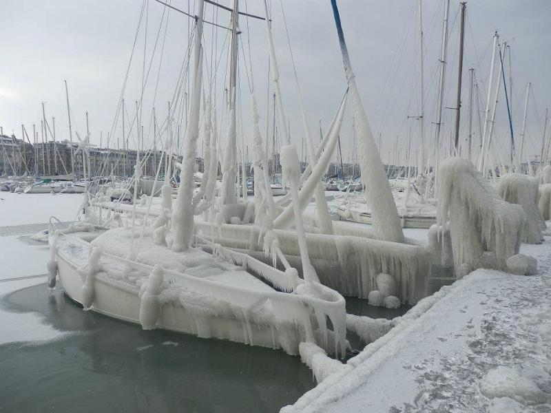 Global Warming Frozen Boats