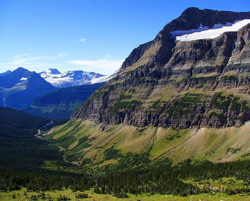 Global Warming Glacier Valley