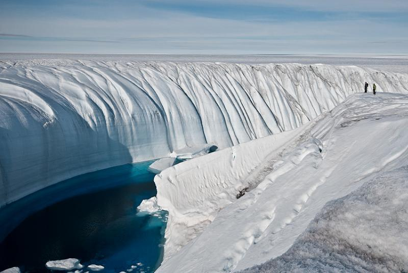 Global Warming Ice Canyon