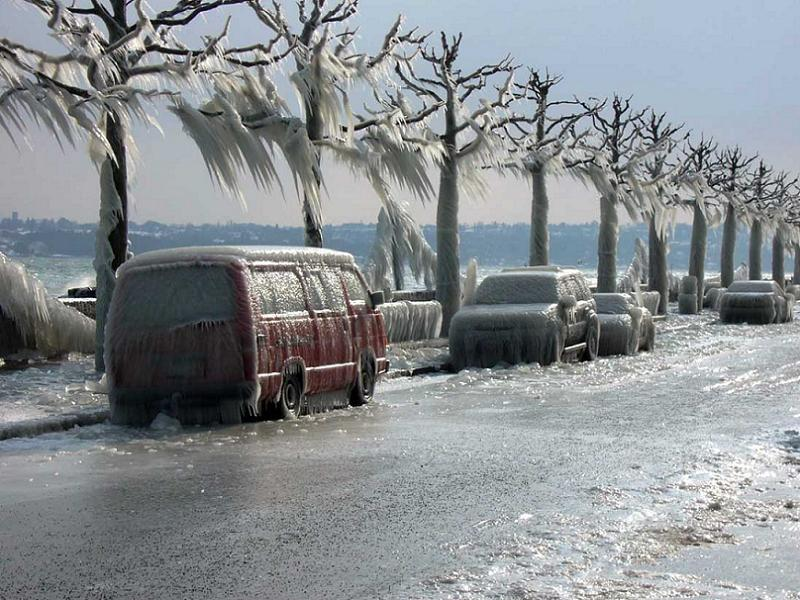Global Warming Icy Road
