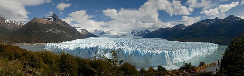 Global Warming Panoramic Glacier