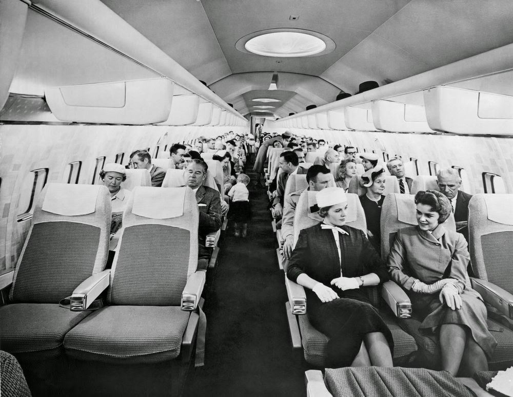 Golden Age Air Travel Cabin